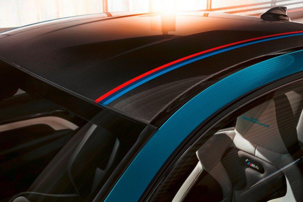 BMW M4 Edition M Heritage於碳纖維車頂增添M三色飾條,展...