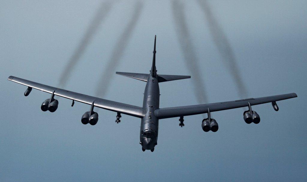 美軍B-52H戰略轟炸機。 圖/美國空軍