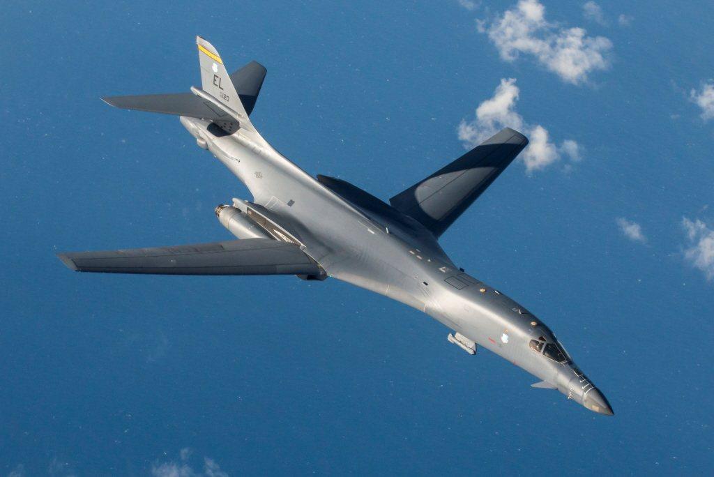 美軍B-1B超音速戰略轟炸機。 圖/美國空軍