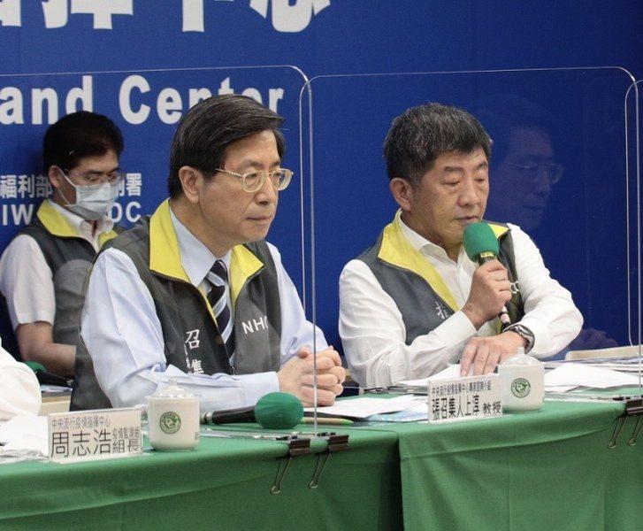 疫情中心官指揮官陳時中宣佈12日無新增確診,已是本土連續30天沒相關案例。(ph...