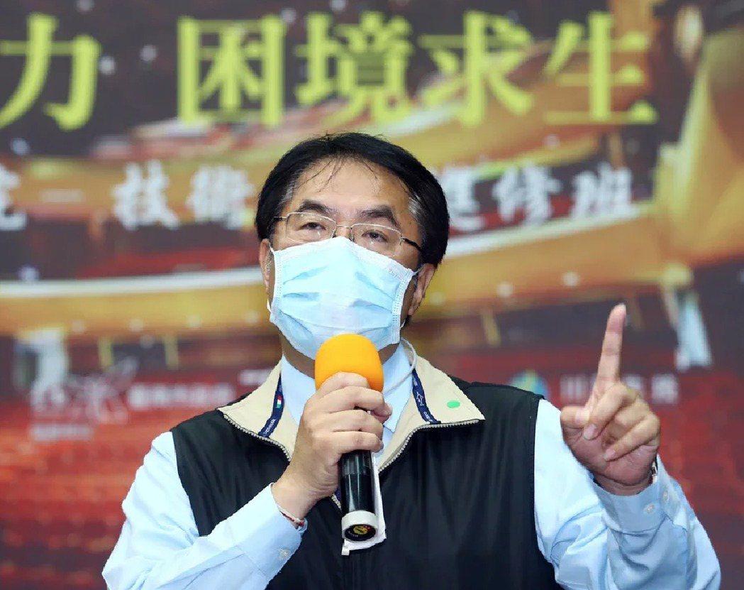 台南市長黃偉哲表示台南財政現在已在「普通病房」,希望早日能出院。圖/本報資料照片