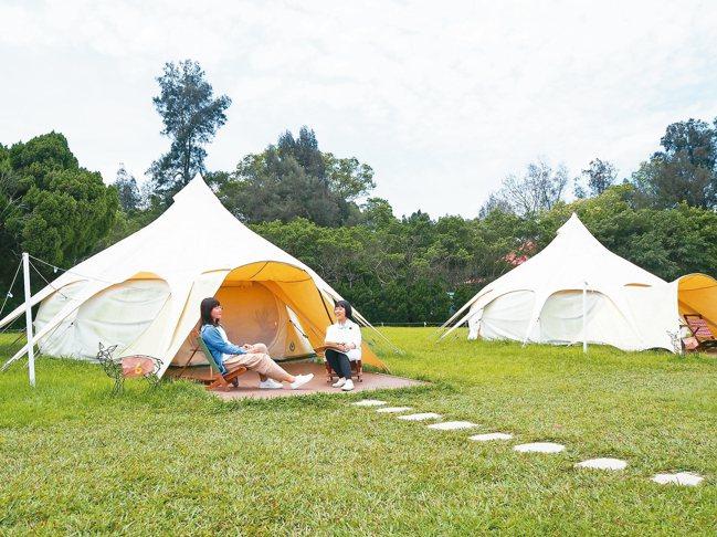 優閒的露營樂趣。 記者羅建怡/攝影