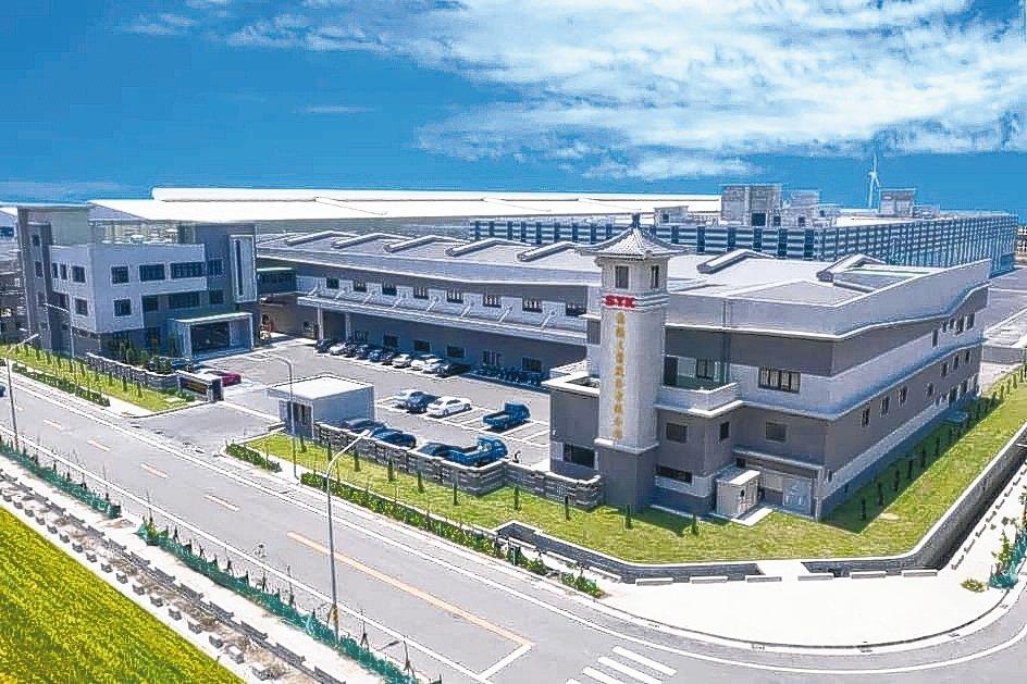 嵩陽新廠營運總部彰濱鹿港區正式投產,廠房面積達10,000坪。 嵩陽公司/提供