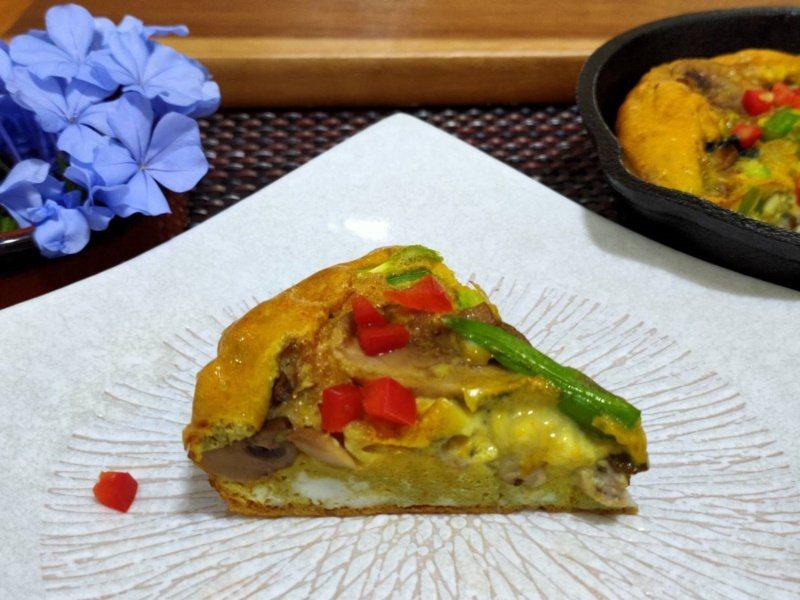 「蘆筍蘑菇牡蠣烘蛋」是讓富含穀胱甘肽的蘆筍搭配牡蠣,促進促進鋅的吸收。 圖/南基...