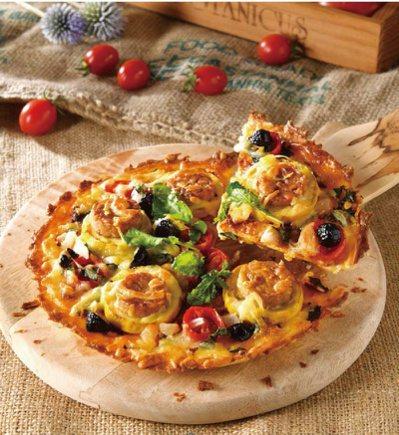 無麵粉芝麻葉披薩。 圖/日日幸福出版社 提供