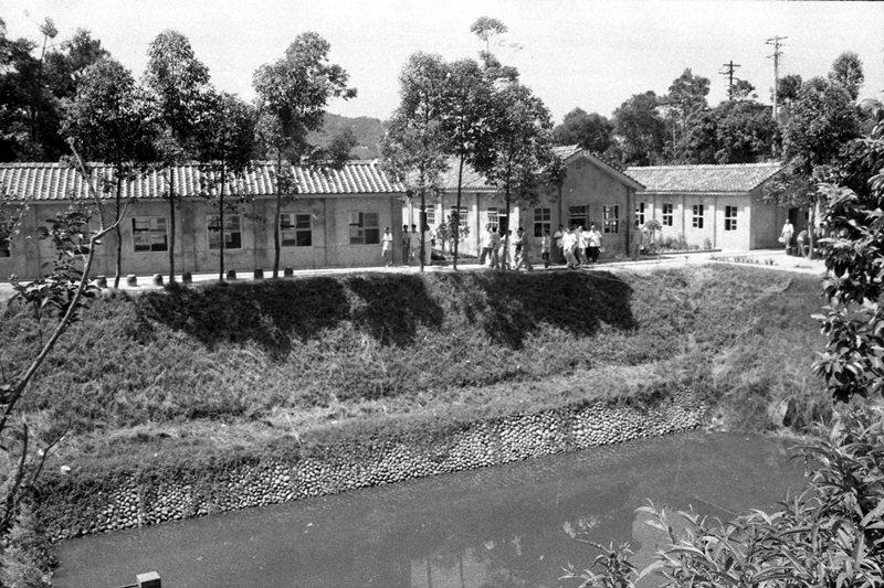 玉峰影業公司舉行湖山製片廠落成典禮,圖為會外一隅,攝於1958年。 圖/聯合報系資料照
