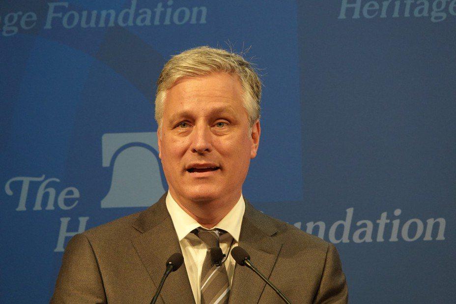 美國國家安全顧問歐布萊恩(Robert O'Brien)。本報資料照片。華盛頓記者張文馨/攝影