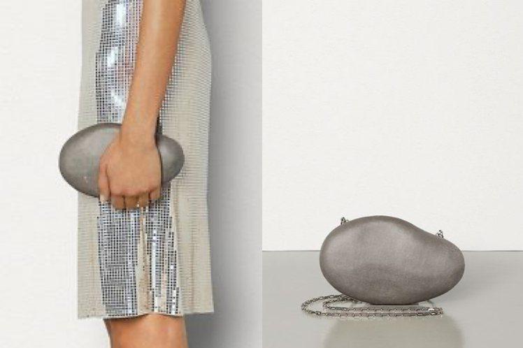 BV春夏系列推出石頭材質手拿包。圖/摘自官網