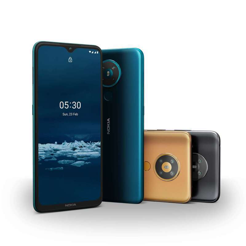 Nokia 5.3共有霧影黑、暗夜藍、迷幻金3色,單機建議售價5,990元。圖/HMD Global提供