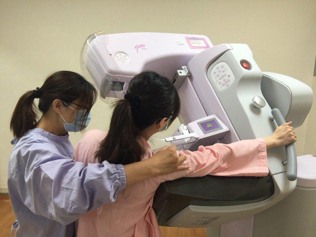 南投醫院引進新型乳房攝影儀,能有效發現早期乳癌,減少檢查時的疼痛感。圖/南投醫院...