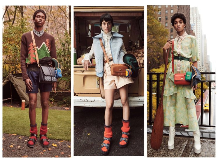 COACH發表2020早秋男女裝系列,跟上奢華野營glamping的戶外休閒風。...