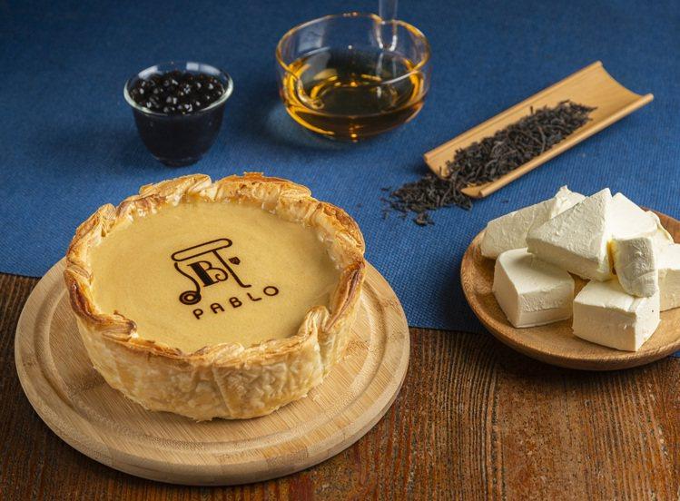 PABLO X 春水堂聯名「珍珠奶茶起司塔」。圖/PABLO提供