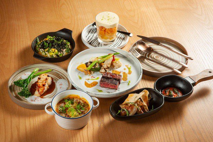 T.R Bar Kitchen頂級和牛套餐。圖/台北大直英迪格提供