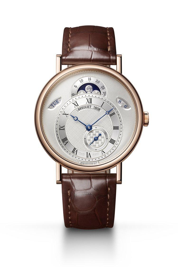 Breguet,Classique經典系列7337玫瑰金月相腕表,原始靈感來自寶...