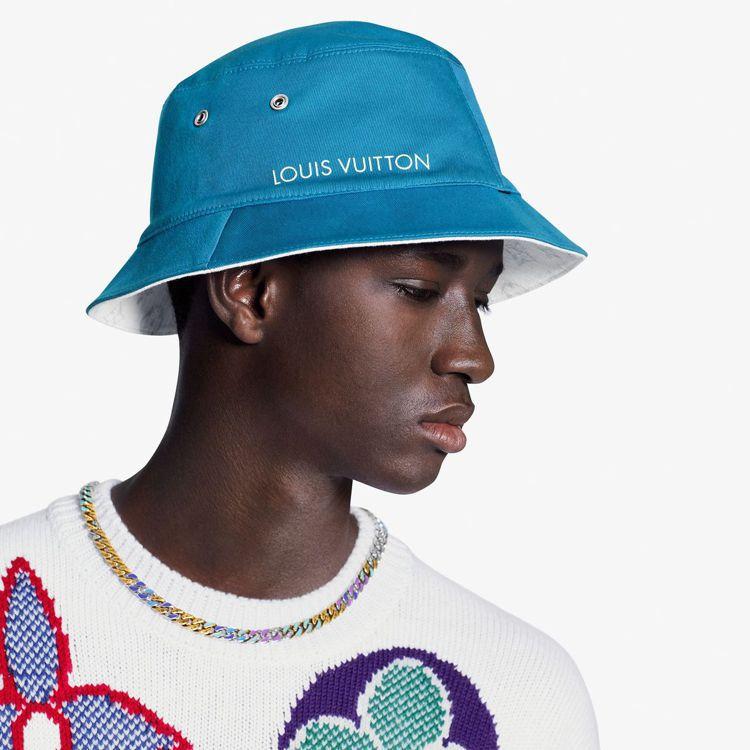 路易威登Monogram牛仔布漁夫帽,19,800元。圖/LV提供