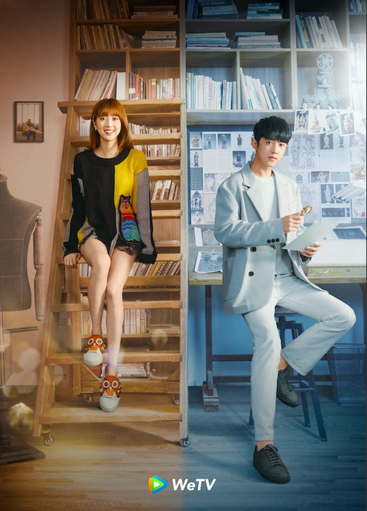 梁靖康(右)與李凱馨合作「暖暖請多指教」。圖/WeTV提供