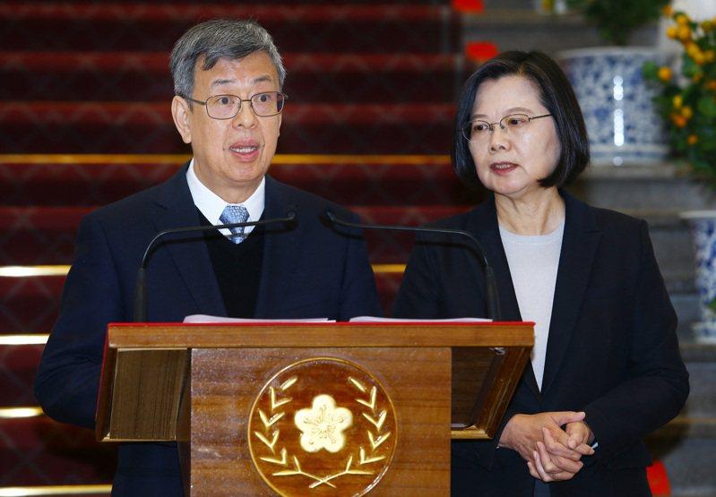 副總統陳建仁(左)。圖/聯合報系資料照片