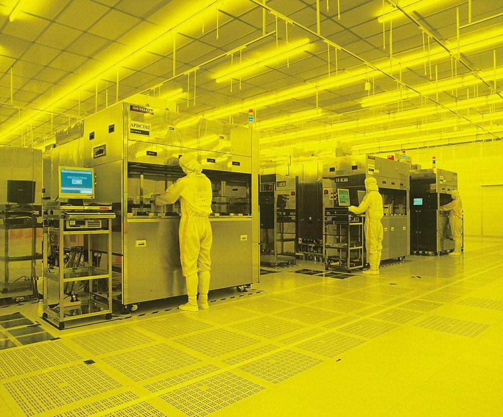 圖為華虹半導體生產部門。 取自華虹半導體官方網站