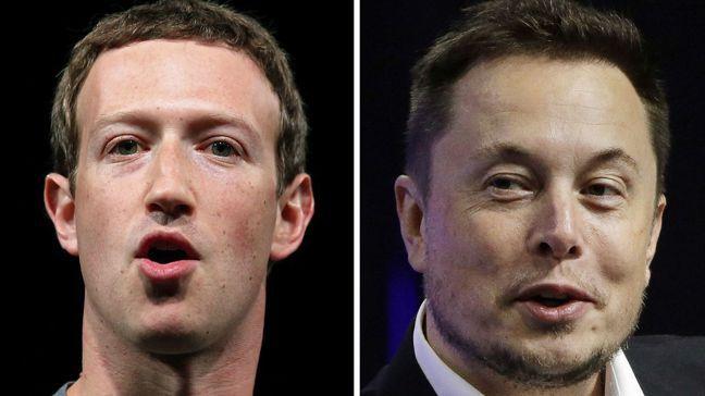 臉書執行長祖克柏(左)與特斯拉執行長馬斯克,兩人對封鎖抗疫的看法南轅北轍。 ...