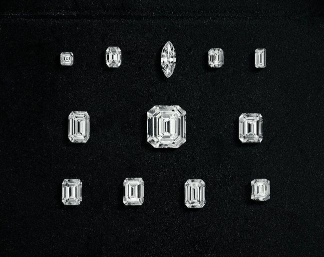 瓊格爾之鑽最後切割出12顆鑽石。 圖片提供/Harry Winston