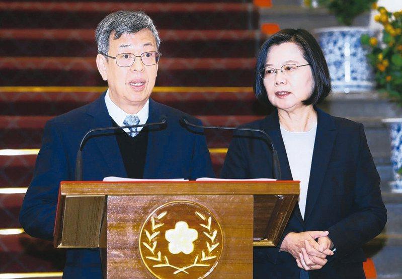 副總統陳建仁(左)。 本報資料照片