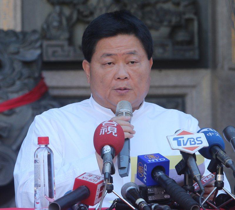 大甲鎮瀾宮董事長顏清標換肝手術成功。 圖/聯合報系資料照片