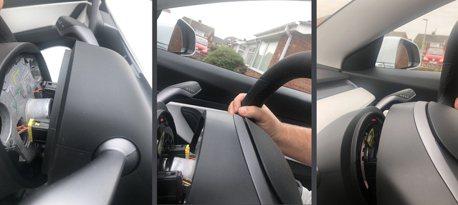交車剛滿一個月! Tesla Model 3上路方向盤突然彈飛!