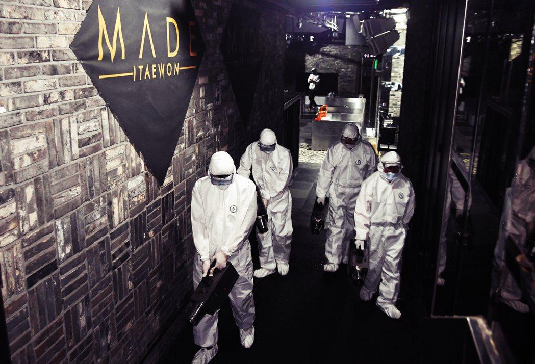 南韓新一波群聚感染再起,事發地在以異國風情聞名的首爾梨泰院。圖為梨泰院知名夜店「...