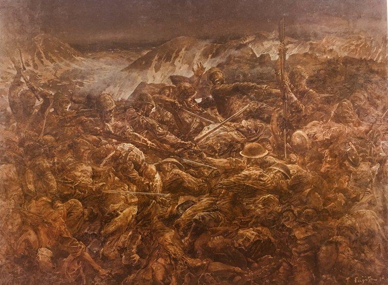 《阿圖島玉碎》1943年,東京國立近代美術館藏。 圖/維基共享