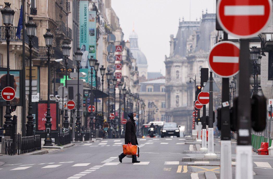 為減緩疫情擴散,法國自3月中旬起實施封城禁令。 圖/路透社