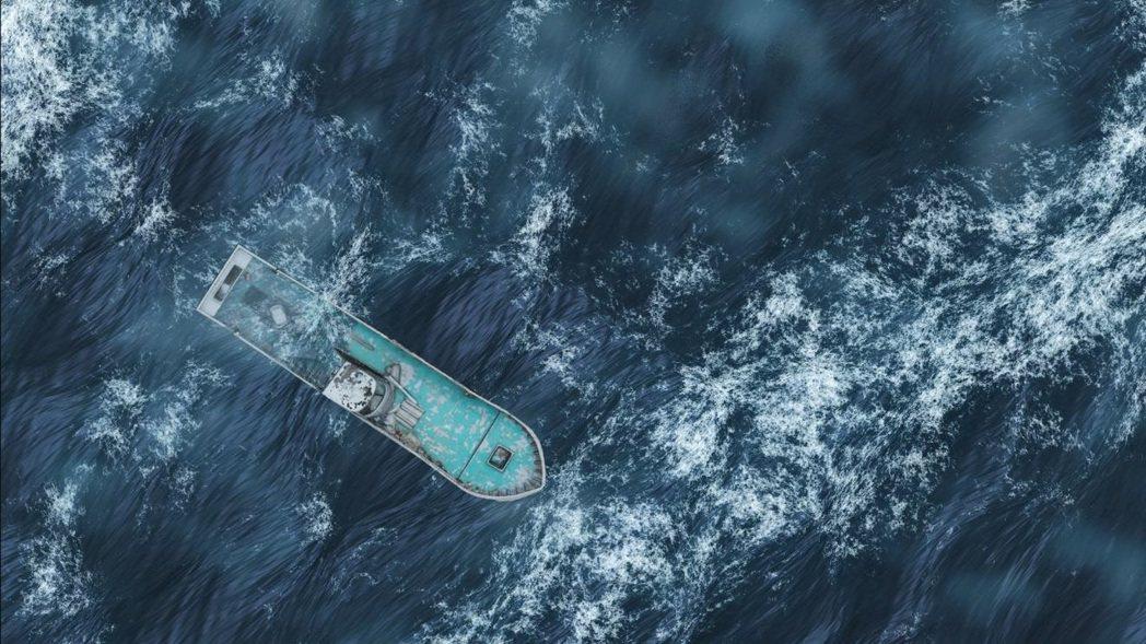 加力畫廊藝術家潘勁作品《漂流行舟》,其為新藝獎獲獎藝術家。 圖/畫廊協會提供