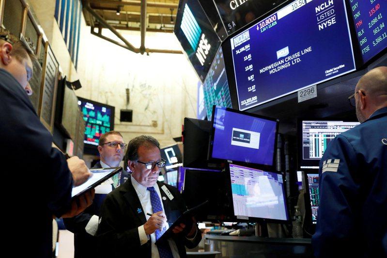 美股道瓊指數13日收盤跌逾500點。(圖/路透)