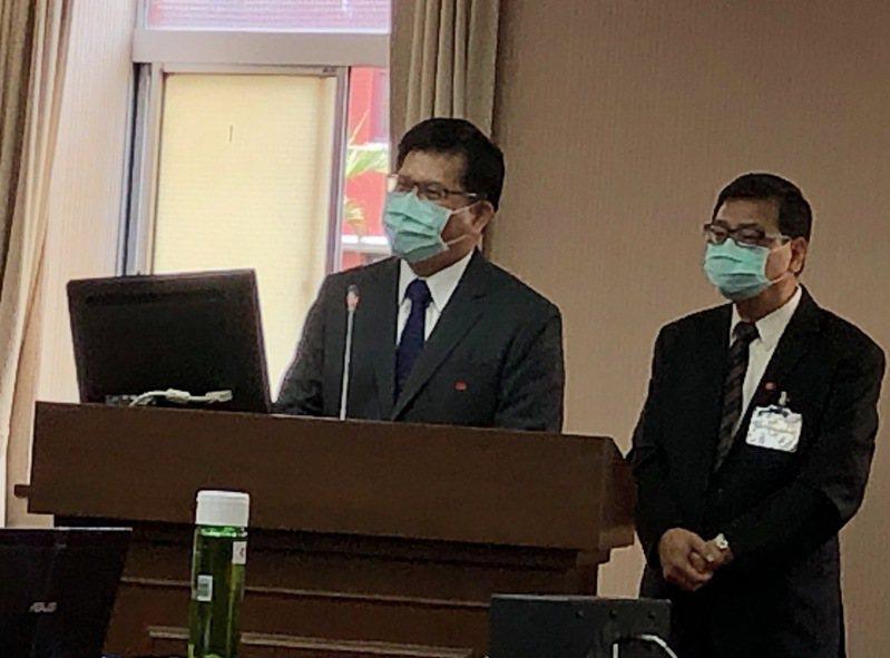 交通部長林佳龍(左)。聯合報記者雷光涵/攝影
