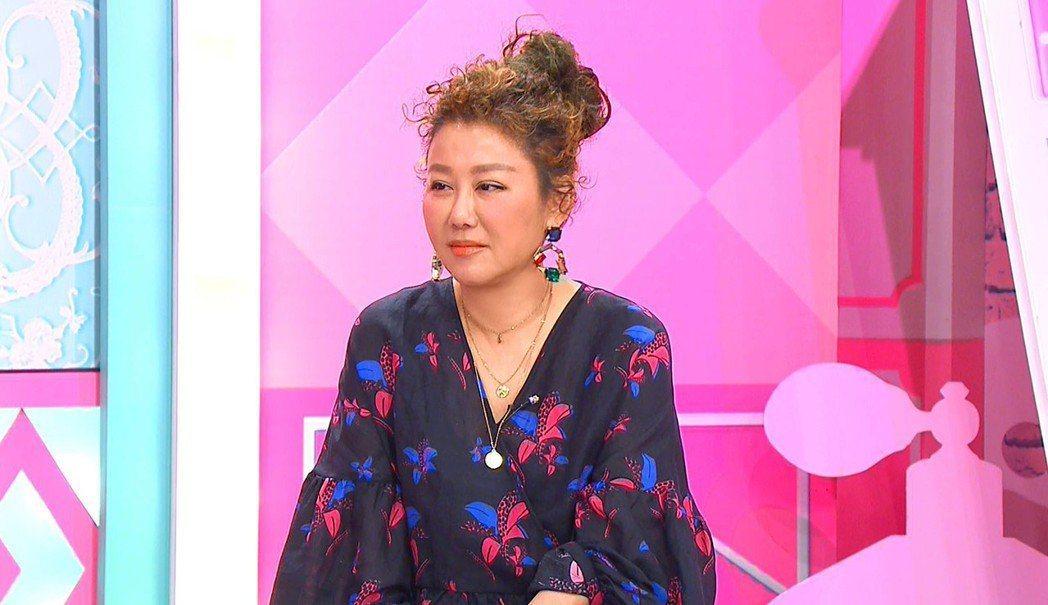 藍心湄今錄「女人我最大」,對於店即將收掉,她不予回應。圖/TVBS提供