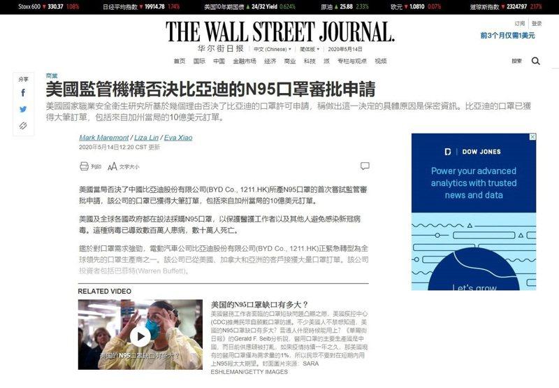 圖/華爾街日報截圖
