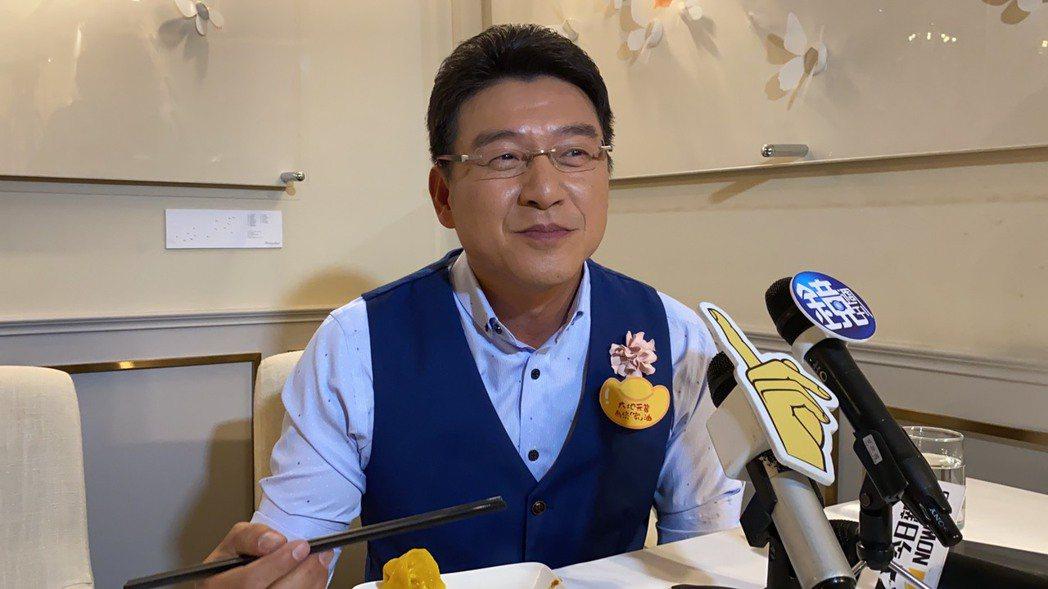 謝震武今出席公益活動記者會。記者林怡秀/攝影