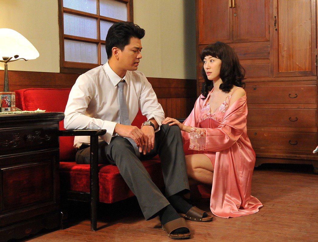 潘逸安(左)、許蓁蓁飾演夫妻。圖/台視提供