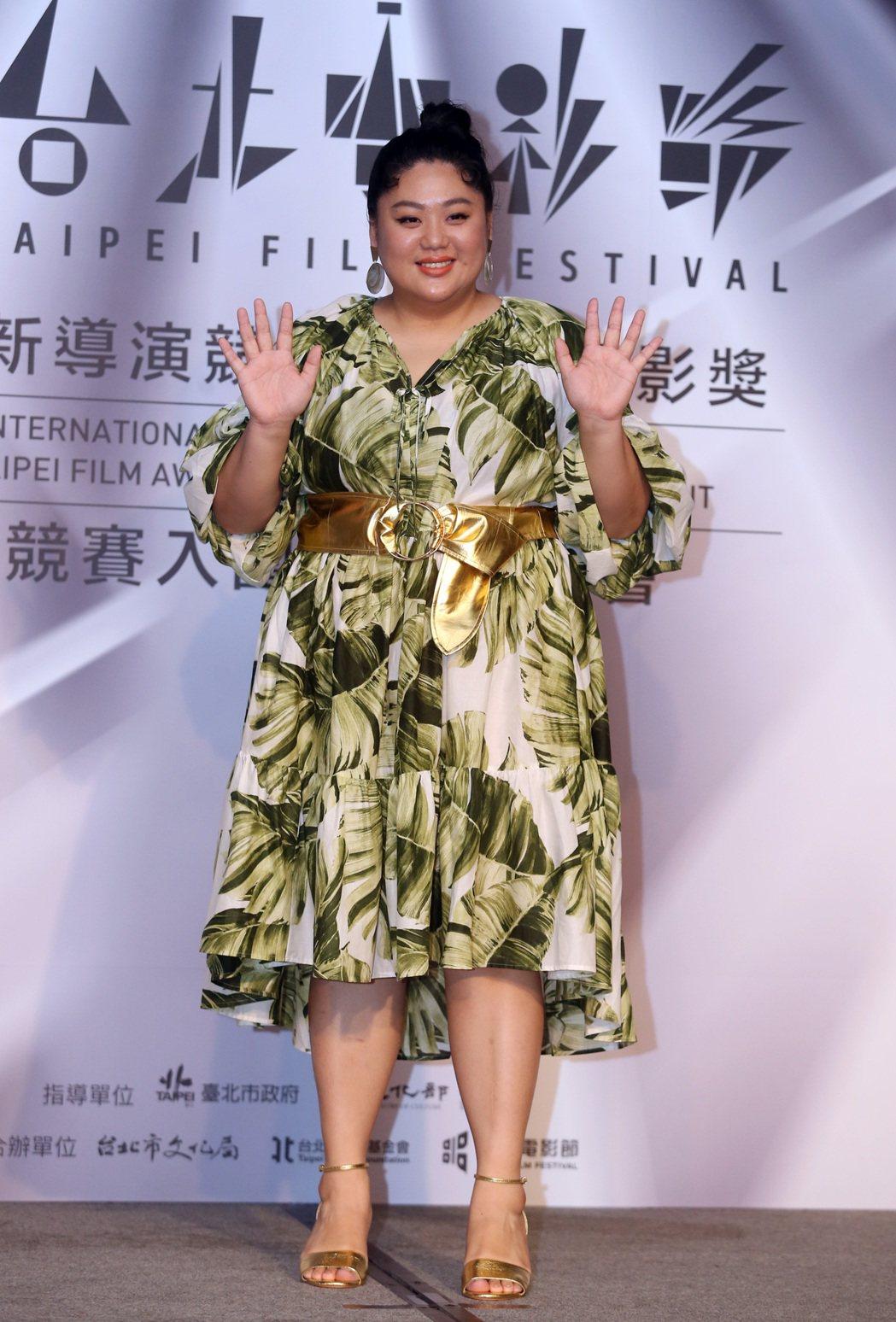 台北電影獎舉行入圍名單記者會,蔡嘉茵。記者曾吉松/攝影 曾吉松