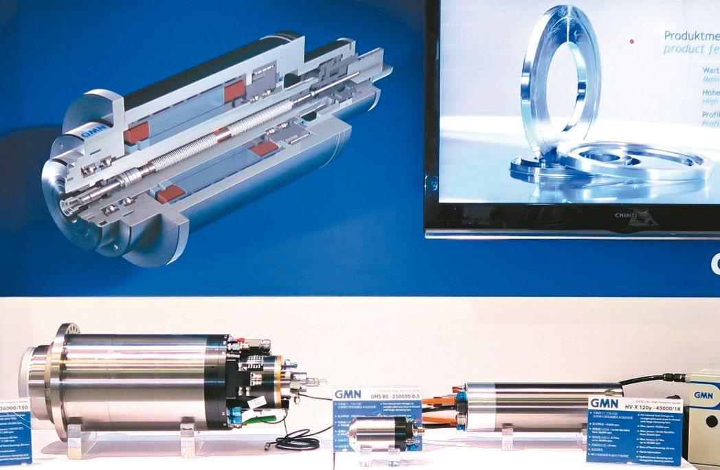 輝遠貿易公司推出高精密高速主軸、軸承。 陳華焜/攝影