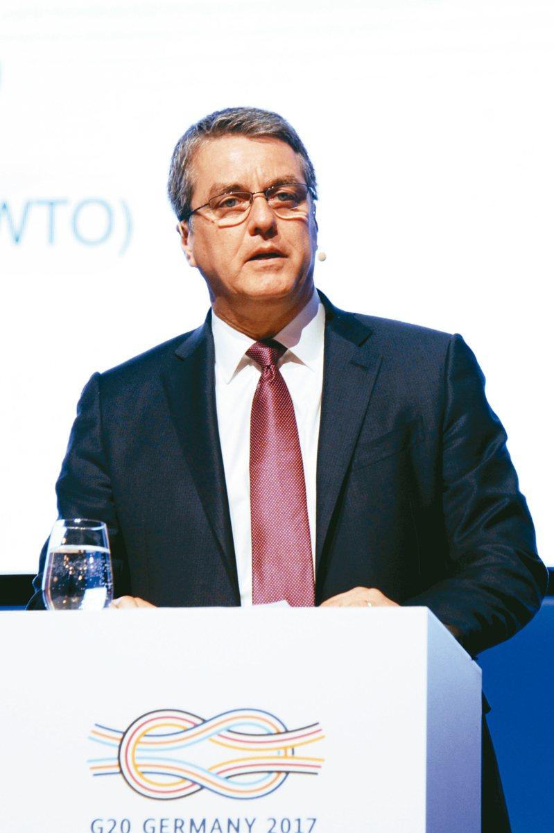 WTO秘書長阿茲維多提前一年離職。 中新社