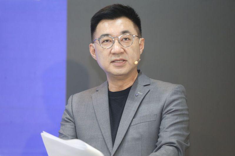 國民黨主席江啟臣指出,蔡易餘提案的內容,是一個很嚴肅的問題,不要再消費這種議題。 記者徐兆玄/攝影