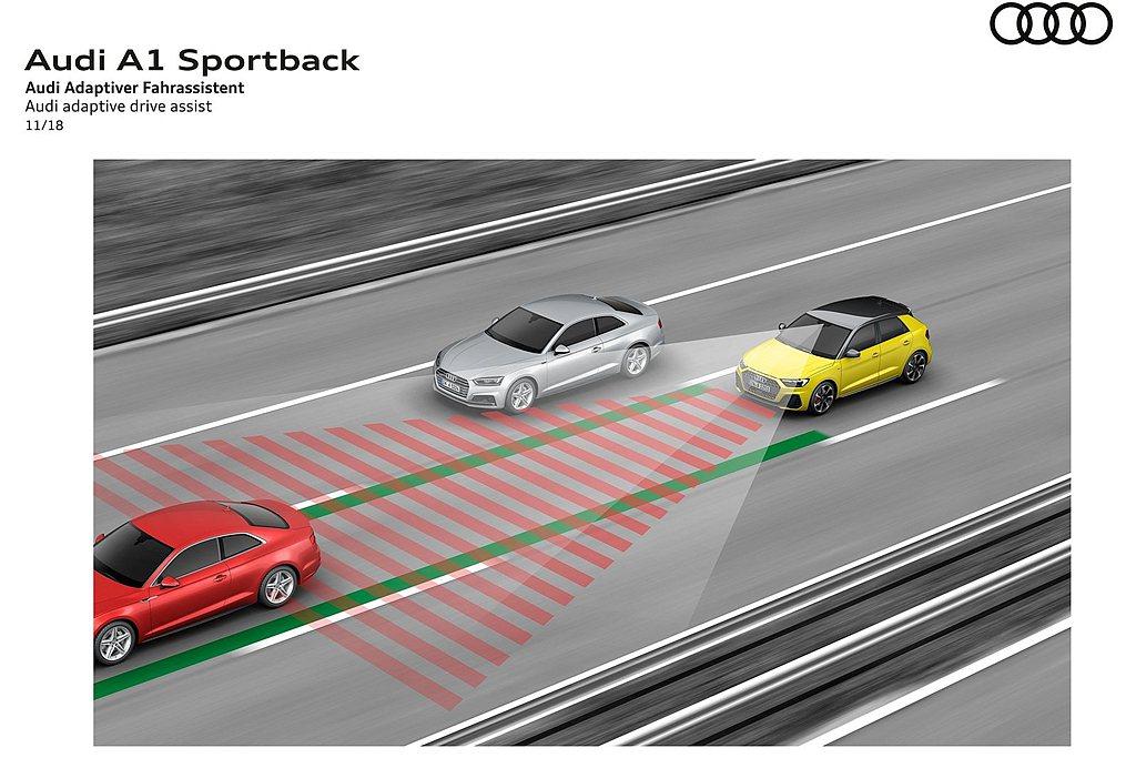 可選的「駕駛輔助套件」增加Audi active lane assist主動式車...