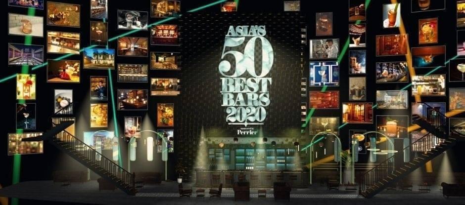 2020 Asia's 50 Best Bars 線上直播畫面。 圖/取自Ind...