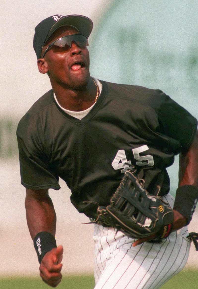 喬丹曾一度改打棒球。 美聯社