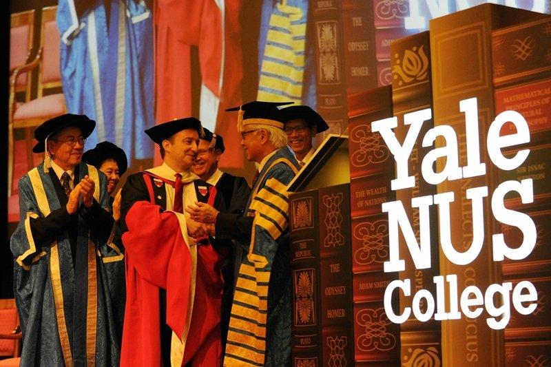 耶魯大學受到新加坡學習環境的吸引,加上新加坡政府願意負擔所有經費,因而在此設立一所學院,攝於2013年。 圖/法新社