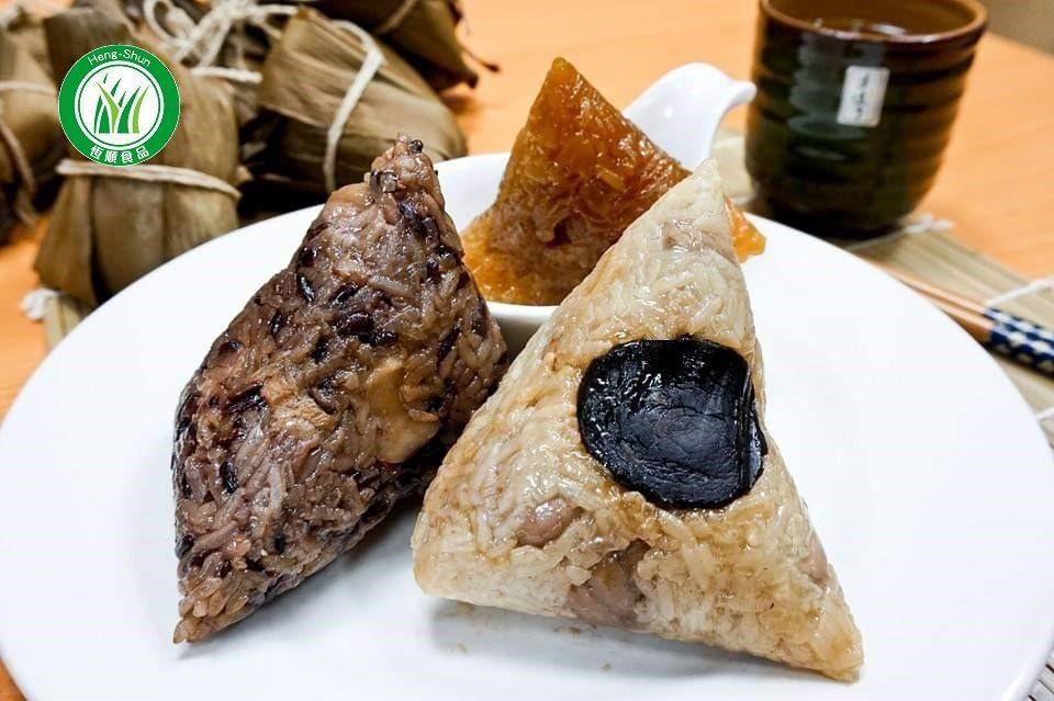 有機米製成的素粽。 業者/提供。