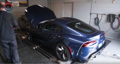 影/馬力機實測結果顯示 2021 Toyota Supra馬力絕對不止382匹!
