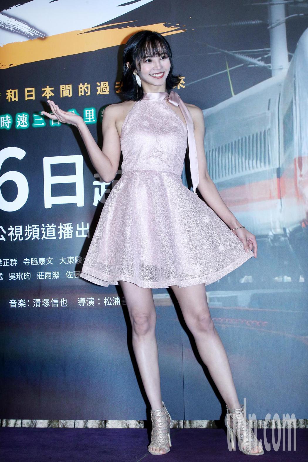 安娜李下午出席公視、NHK新戲「路~台灣Express~」上檔記者會。記者蘇健忠...