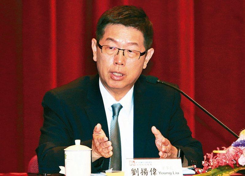 鴻海董事長劉揚偉。 (本報系資料庫)