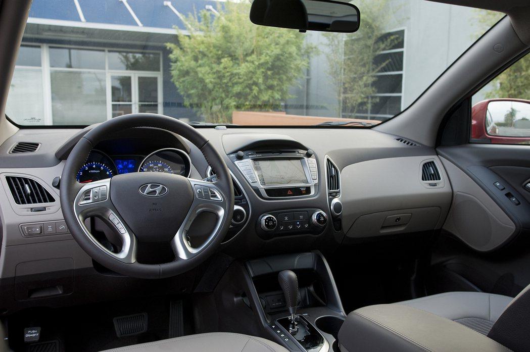 第二代Hyundai Tucson內裝。 摘自Hyundai